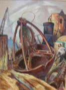 Fred Shane, Clam Shell Dredge, 1952