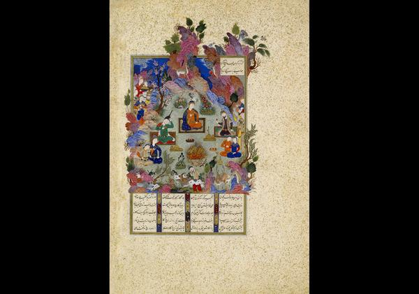 Shahnama (The Book of Kings) of Shah Tahmasp, ca.  1525–30; Safavid period (1501-1722) Abu'l Qasim Firdausi, Author; Qasim, son of 'Ali, Artist (attributed to); Aqa Mirak, (supervised by) Made in Tabriz, Iran.  The Metropolitan Museum of Art, Gift of Arthur A.  Houghton Jr., 1970 (1970.301