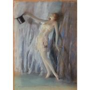 Everett Shinn (American, 1876-1953), Curtain Call, 1933, Signed and dated 1933, Pastel on paper, Sheet 19 1/8 x 13 1/2 inches.  Estimate: $90,000-110,000