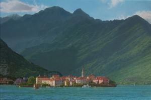 """""""Isola dei Pescatore, Lago Maggiore,"""" oil on canvas, 24"""" x 36"""" 2013"""