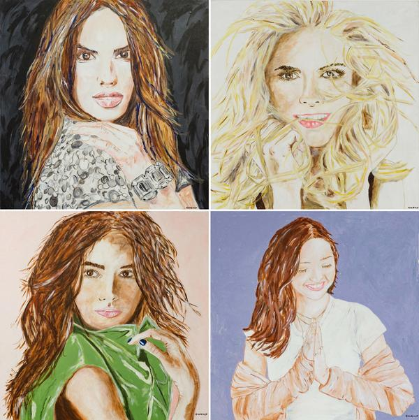 Supermodels actively participating in the auction fundraiser include (clockwise from top left): Alessandra Ambrosio, Heidi Klum, Lily Aldridge, Miranda Kerr