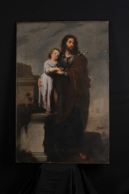 School of Murillo, St.  Joseph and the Infant Jesus