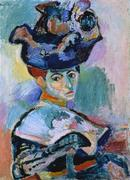 03.  Henri Matisse, Woman with a Hat, 1905; oil on canvas; 31 3/4 x 23 1/2 in.  (80.7 x 59.7 cm); SFMOMA, Bequest of Elise S.  Haas; © Succession H.  Matisse, Paris / Artists Rights Society (ARS), New York; photo: Ben Blackwell