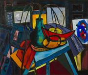 John Miller Howard, Still Life with Fruit, oil on canvas, 1967 Courtesy ASC Permanent Collection, ASC80.026.000
