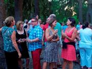 Guests enjoy a Summer Saturday in the Katonah Museum of Art's Sculpture Garden