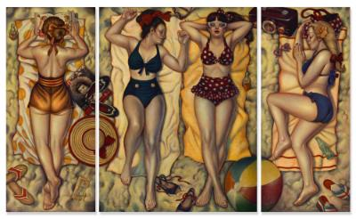 Danny Galieote, Summertime Bliss Triptych, 60 x 98 inches