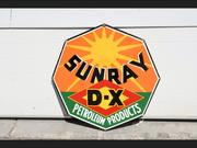 Sunray D-X Petroleum Products sign, 27 inches square, displays well.