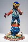 "Jamex and Einar de la Torre, ""Bethlehem Boy,"" 2007.  Blown glass and mixed media, 34 x 19 x 13 inches.  Courtesy Koplin Del Rio Gallery"