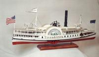 Lake George steamboat TICONDEROGA c.1884 -Scale Model / Collectible