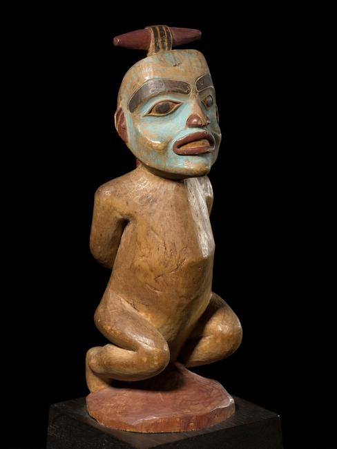 Tinglit Shaman figure of a bound witch from Tambaran Gallery