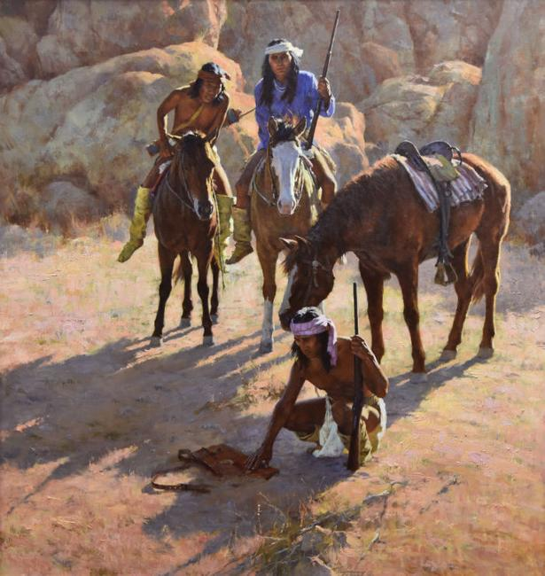 Howard Terpning, The Missing Dispatch Case, 2002, oil
