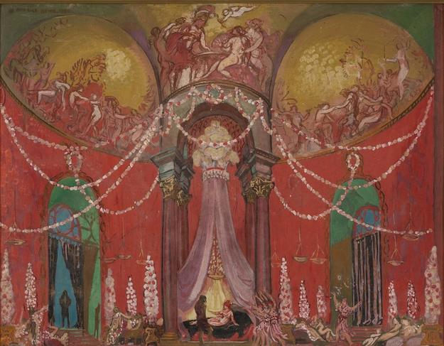 The Palace of the Queen of Voluptuousness by Maurice Denis (1870-1943)