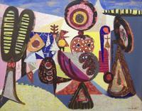 Theodore Haupt, Market Place (Fiesta), 1950