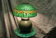 Tiffany Pomergranate Lamp from toulouse Antique Gallery of Redondo Beach