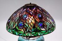 Tiffany Studios Peacock Table Lamp
