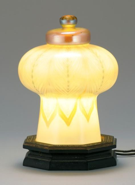 Tiffany Studios Favrile Glass Table Lamp, Lot 668 in Eldred's Fine & Decorative Art Auction