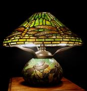 Replica Tiffany lamp £3,600 at Cotswolds Decorative Antiques & Art Fair.
