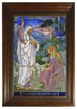 This magnificent Tiffany Studios leaded stained glass window will be auctioned Saturday, Jan.  11.