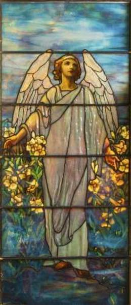 This stunning Tiffany Studios leaded and stained glass window will be sold at auction Sept.  26-27 in Geneseo, N.Y.