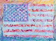 Timothy Roepe, American Flag Series, oil and acrylic on canvas, 36 x 48, 2014