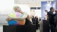 Carole Feuerman sculptures loomed large in the booth of Timothy Yarger at the 2012 LA Art Show.
