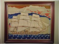 Important American Sailor's Woolwork