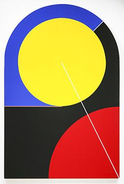 Leo Valledor, Pow Wow Now, 1980, Acrylic on canvas, 72 x 48