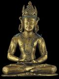 Gilt bronze figure of the Bonpo deity Kunzang Ahkor