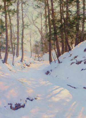 This painting by Walter Launt Palmer, titled Winter Shadows, was the top lot of the auction.