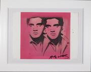 Mixed media on paper (graphite, ink, acrylic and silk screen) attributed to Andy Warhol (Am., 1928-1987), titled Double Elvis, signed front and reverse (est.  $30,000-$50,000).