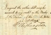 This rare and important 1792 U.S.  Federal bond, signed by George Washington, will be sold at auction in October.