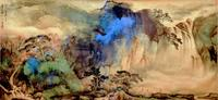 Waterfall by Zhang Daqian, one of the properties recently under the hammer at Gianguan Auctions New York.