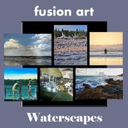 """Waterscapes"" Juried Art Exhibition is Now Open.  www.fusionartps.com"