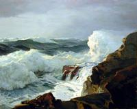Frederick Judd Waugh, Breaking Surf, Oil on canvas, 25 x 30 in., New Britain Museum of American Art