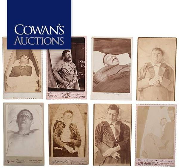 Rare & Important Album Containing CDVs & Cabinet Cards of Wells Fargo Highway Men, Train Robbers, & Other Criminals