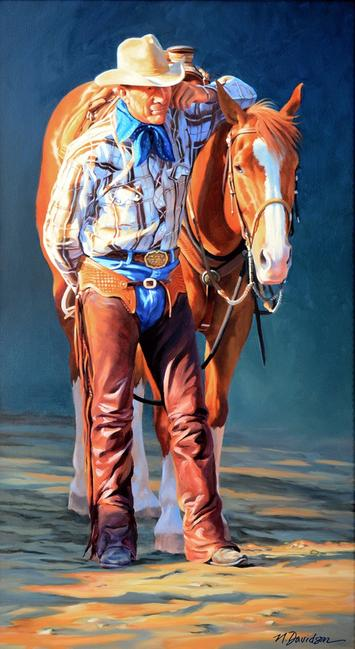 """Life Partners"" by Nancy Davidson, is one of the Western art pieces on display."