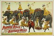 Buffalo Bill / Pawnee Bill Wild West Show poster, 30 inches by 40 inches, mounted on linen (est.  $8,000-$15,000).