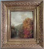 This lovely landscape oil painting by William Mason Brown, in a magnificent frame, will be sold May 18th.