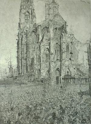 "Jame's Ensor's ""The Cathedral,"" dated 1886, was acquired by the Portland Art Museum, which won The Richard Hamilton Acquisition Prize of $10,000, sponsored by Champion & Partners"