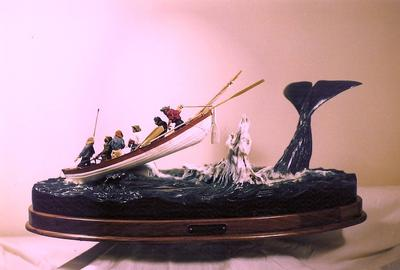 Nantucket Sleigh Ride - Wood Sculpture