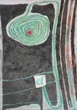 """Lot 26: LADANYI, Emory.  Mixed Media/Canvas """"Decrescendo."""" Hungarian."""