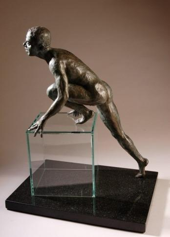 Danielle Langford, figurative sculpture on exhibit at The Farmington Valley Arts Center, Avon, CT