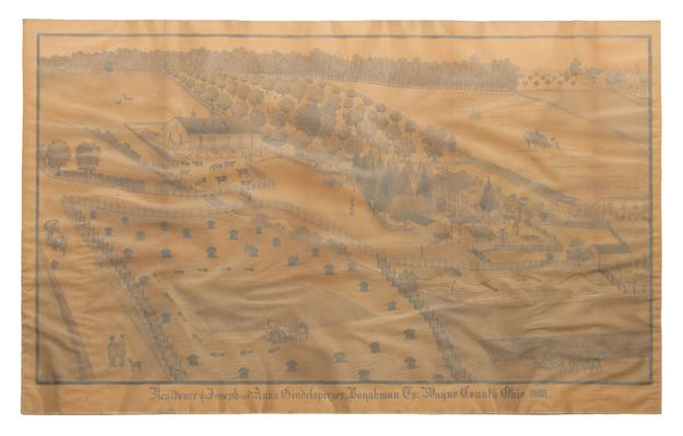 A drawing by 19th Century Swiss-American artist, Ferdinand Brader is set to sell at auction on May 14.  The rural Wayne County, Ohio farm scene is estimated to fetch $10,000 - $15,000.  Similar drawings have sold in excess of $30,000.