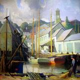 "George Ames Aldrich, E.  Gloucester Docks, 48""x48"""