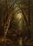 Sarah Barstow, Woodland Interior, 1865