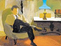 """Untitled (Man Seated Near Lamp)"" by Fairfield Porter at the Parrish Museum."