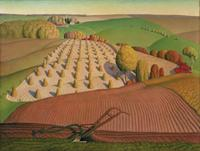 Grant Wood's Fall Plowing, from the John Deere art collection, goes on view at Figge Art Museum on Apr.  24.