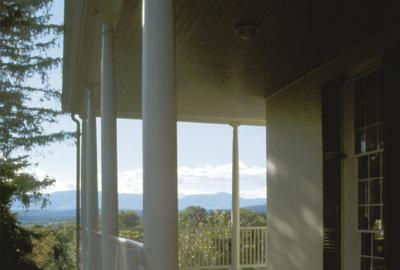 The view from Thomas Cole's porch in the Catskills.