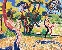 Andre Derain's Arbres a Collioure, 1905, is estimated to fetch at least £14 million at Sotheby's.