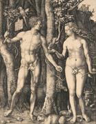 "Albrecht Dürer's 1504 engraving ""Adam & Eve,"" one of the most celebrated works of the artist's career, could bring $80/120,000 at Bonhams & Butterfields."